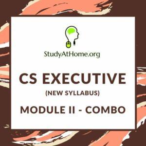 CS Executive New Syllabus Module II- All Subjects Combo