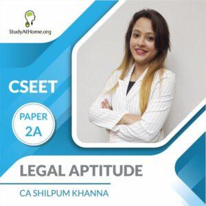 Paper 2A - Legal Aptitude (CSEET) By CA Shilpum Khanna
