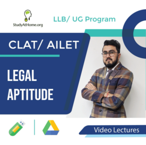 Legal Aptitude for CLAT/ AILET (LLB/ UG Program) by CA Prakash Rai