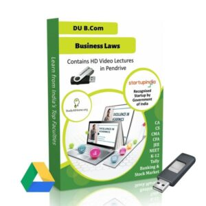 Business Laws for B.Com DU (Delhi University) by CA Aishwarya Khandelwal Kapoor