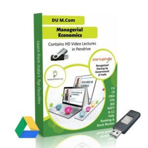 Managerial Economics for M.Com DU (Delhi University) by CA Aishwarya Khandelwal Kapoor
