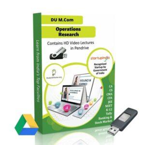 Operations Research for M.Com DU (Delhi University) by CA Raj K Agrawal