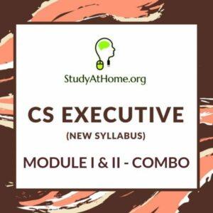 CS Executive New Syllabus Both Module I & II - All Subjects Combo