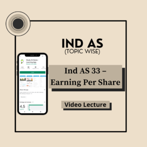 Ind AS 33 - Earning Per Share