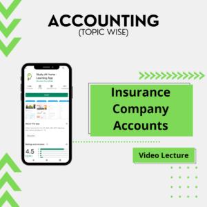 Insurance Company Accounts