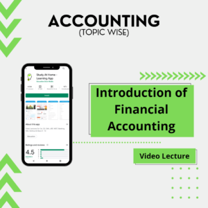 Introduction of Financial Accounting
