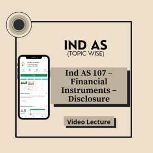 Ind AS 107 - Financial Instruments - Disclosure