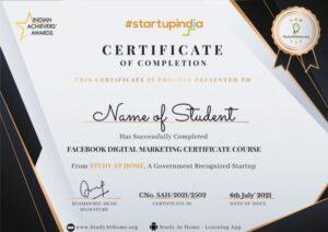 Facebook Digital Marketing Certificate Course