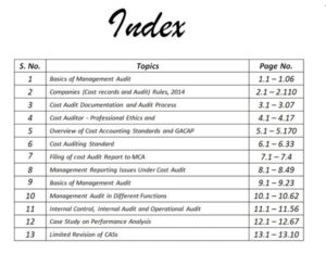 Paper 19 - Cost and Management Audit (CMA Final) by CA Aishwarya Khandelwal Kapoor