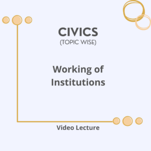 Working of Institutions