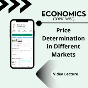 Price Determination in Different Markets