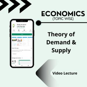 Theory of Demand & Supply
