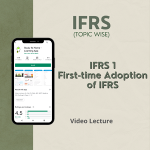 IFRS 1 - First-time Adoption of IFRS