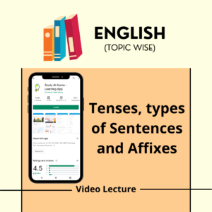 Tenses, types of Sentences and Affixes