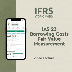 IAS 23 - Borrowing Costs