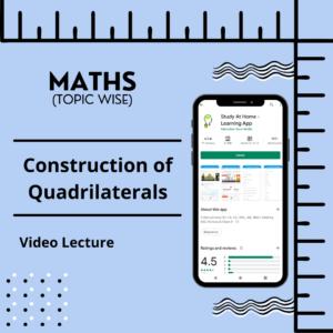 Construction of Quadrilaterals