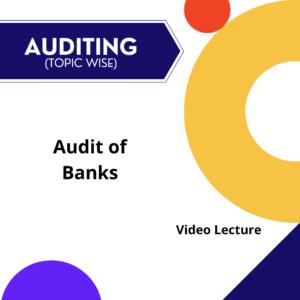 Audit of Banks