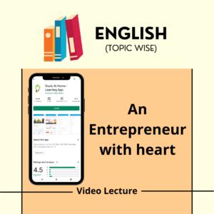 An Entrepreneur with heart