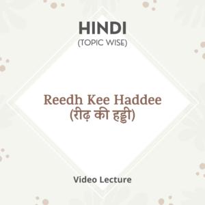 Reedh Kee Haddee (रीढ़ की हड्डी)