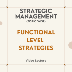 Functional Level Strategies