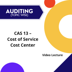 CAS 13 - Cost of Service Cost Center