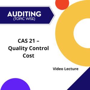 CAS 21 - Quality Control Cost