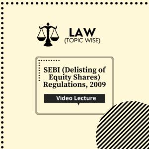 SEBI (Delisting of Equity Shares) Regulations, 2009
