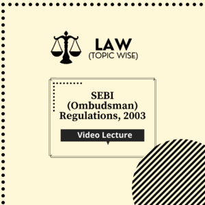 SEBI (Ombudsman) Regulations, 2003