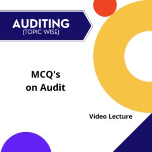 MCQ's on Audit