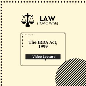 The IRDA Act, 1999